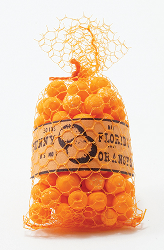 Dollhouse Miniature Sack Of Oranges