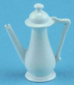 Dollhouse Miniature Coffee Pot, White