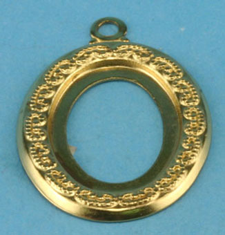 Dollhouse Miniature Brass Frame