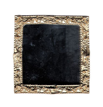 Dollhouse Miniature Square Mirror