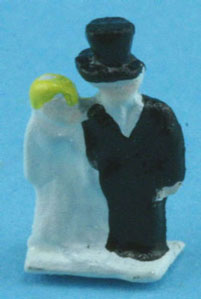 Dollhouse Miniature Bride and Groom