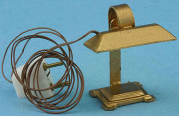 Dollhouse Miniature Desk Lamp-Electric