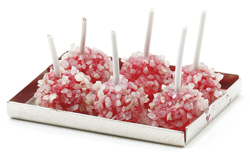 Dollhouse Miniature Candy Apples with Nuts