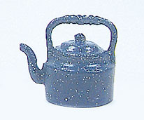 Dollhouse Miniature Spatterware Kettle