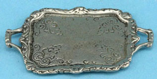 Dollhouse Miniature Pewter Tray