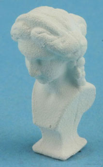 Dollhouse Miniature White Bust Of Lady