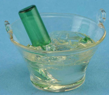 Dollhouse Miniature Empty Champagne In Bucket