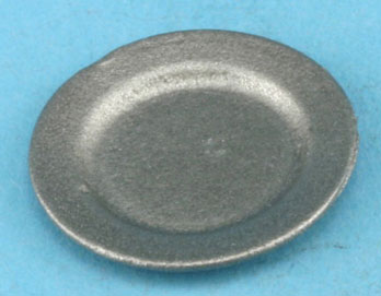 Dollhouse Miniature Pewter Plate