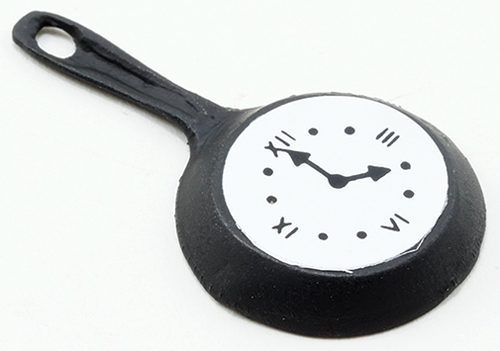 Dollhouse Miniature Fry Pan Clock