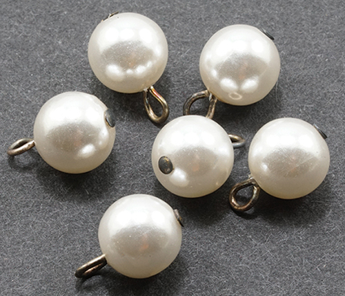Dollhouse Miniature Pearl Ornaments 6Pcs.