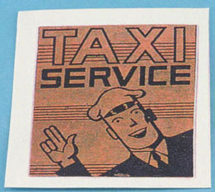 Dollhouse Miniature Taxi Sign