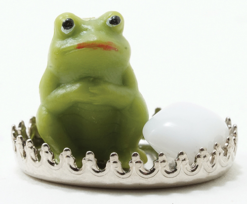 Dollhouse Miniature Frog Soap Dish