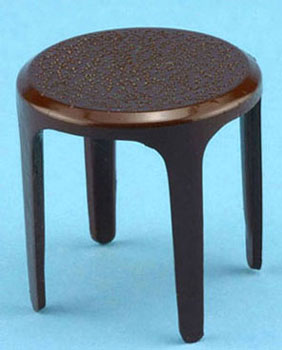 Dollhouse Miniature Brown Stool