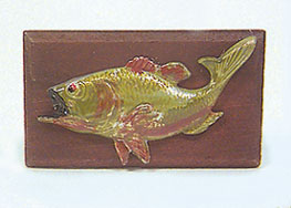 Dollhouse Miniature Fish Plaque