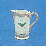 Dollhouse Miniature Christmas Pitcher with Holly