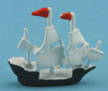 Dollhouse Miniature Ship-Hand painted