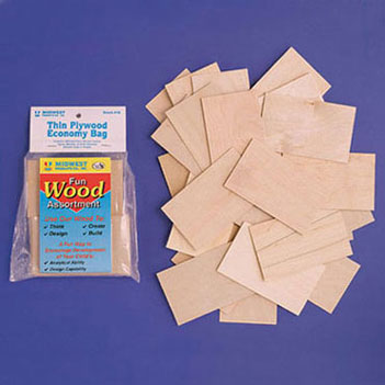 Dollhouse Miniature Thin Plywood Economy Bag