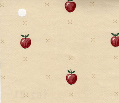 Dollhouse Miniature Pre-pasted Wallpaper, Red Apples
