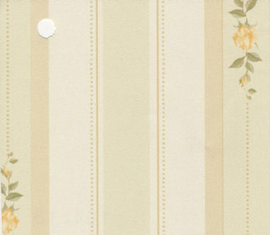 Dollhouse Miniature Pre-pasted Wallpaper, Yellow Rose Stripe