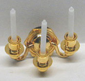 Dollhouse Miniature 3 Candle Wall Sconce