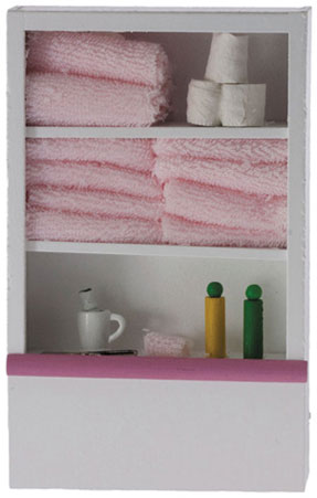 Dollhouse Miniature Bath Cabinet 6In Height