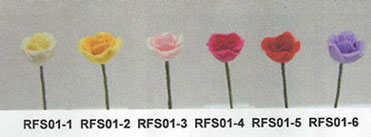 Dollhouse Miniature Sm.Rose Stems-Red/Set Of 12