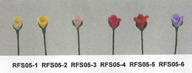 "Dollhouse Miniature 1/2"" Scale Rose Stems-White/Set Of 12"