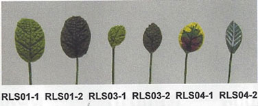 Dollhouse Miniature S/12 Small Rose Leaf Stems