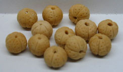 Dollhouse Miniature Whole Cantaloupes S/12