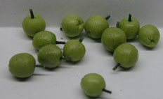 Dollhouse Miniature Green Apples, S/12