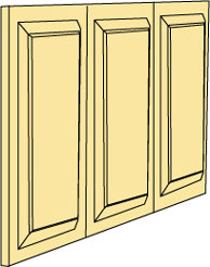Dollhouse Miniature Dpb32-3 Wainscot Panel, 3/Sheet