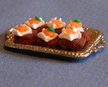 Dollhouse Miniature Brownies, Halloween, Vanilla