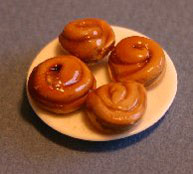 Dollhouse Miniature Sticky Buns
