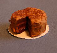 Dollhouse Miniature Cake, German Chocolate