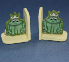 Dollhouse Miniature Bookend, Frog