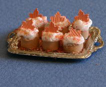 Dollhouse Miniature Cupcakes, Harvest