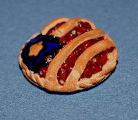 Dollhouse Miniature Pie Patriotic