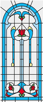 Dollhouse Miniature Sim. Stained Glass Fits Cla75042/Hw5042
