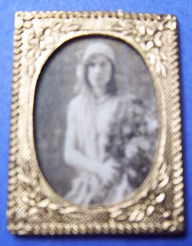 Portrait Of A Young Lady Miniature Dollhouse Picture