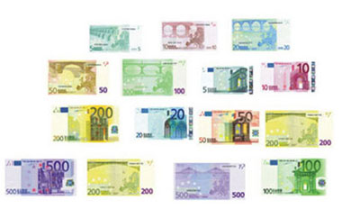 Dollhouse Miniature EUROS/21pcs