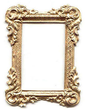 Dollhouse Miniature GOLD RECT.VICTORIAN FRAME