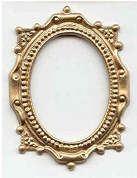 Dollhouse Miniature GOLD OVAL VICTORIAN FRAME