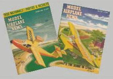 Dollhouse Miniature 1950'S MODEL AIRPLANE MAG