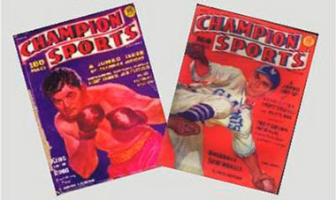 Dollhouse Miniature CHAMPION SPORTS MAGAZ/2