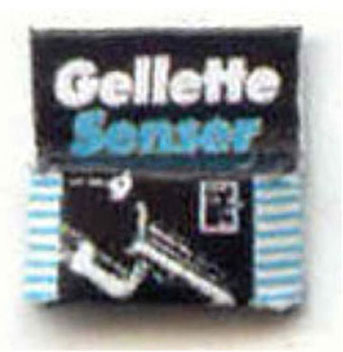 Dollhouse Miniature RAZOR BLADE BOX