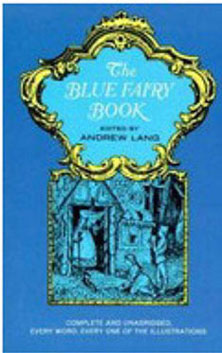 Dollhouse Miniature THE BLUE FAIRY BOOK