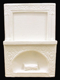 Dollhouse Miniature Half Scale Fireplace
