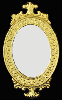 Dollhouse Miniature Mirrored Frame