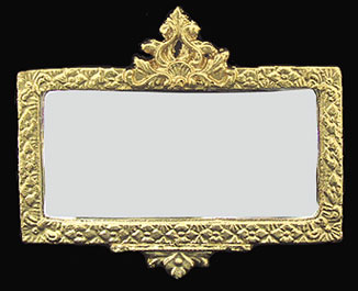 Dollhouse Miniature Ornate Mirror