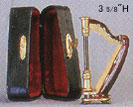 "Dollhouse Miniature Harp 3-1/2"" with Case"